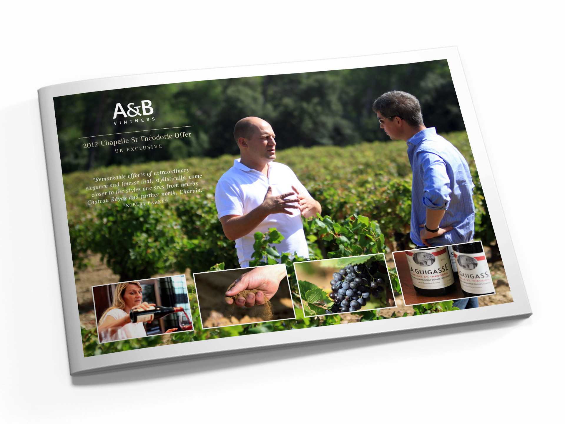 Brochure design for AB Vintners Chateau Neuf du Pape