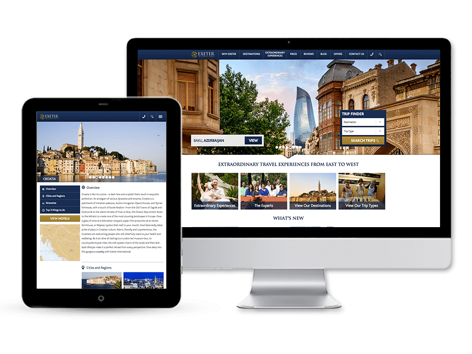 Exeter International Website <br>Design and Development
