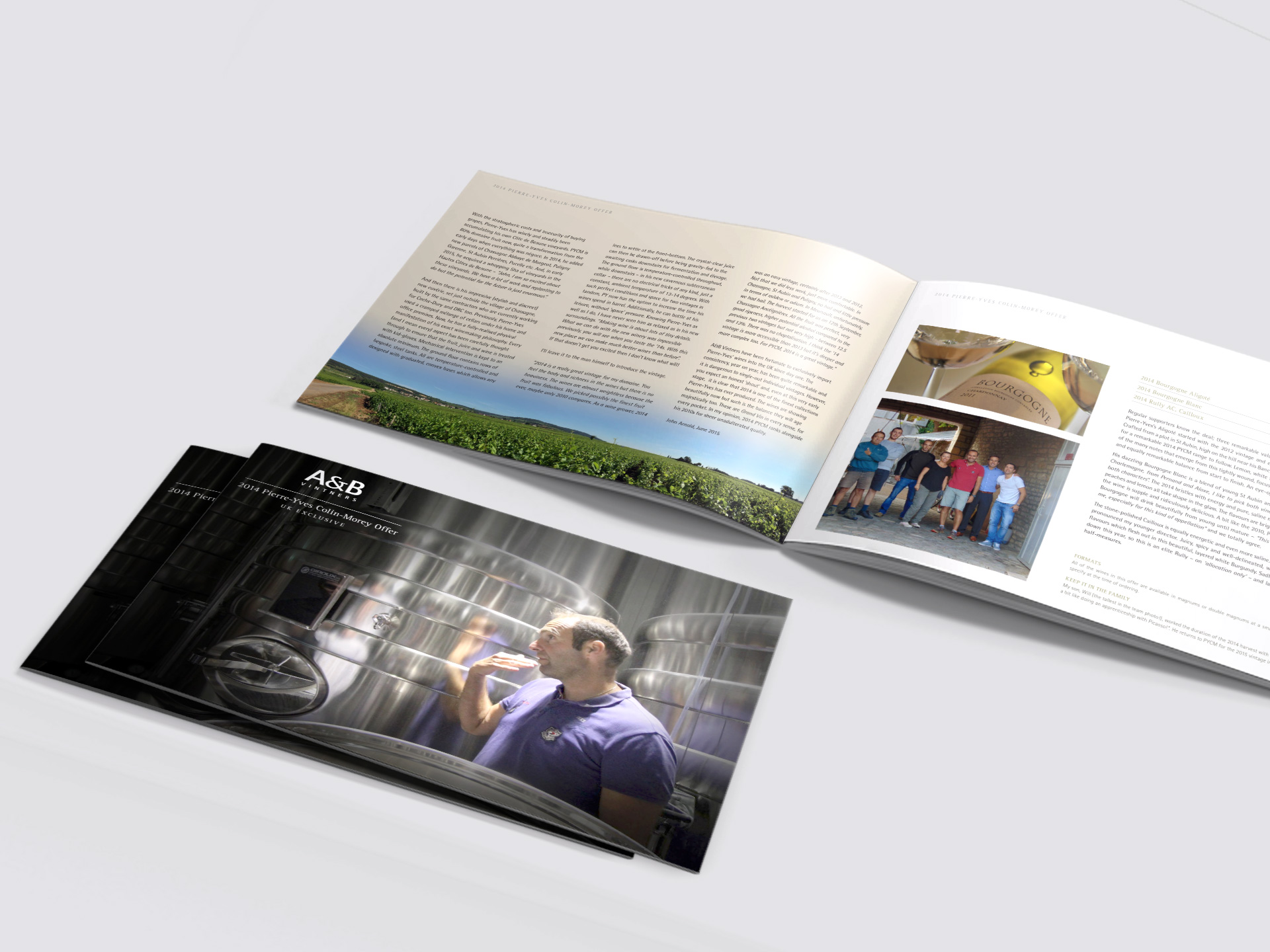 Brochure design for AB Vintners