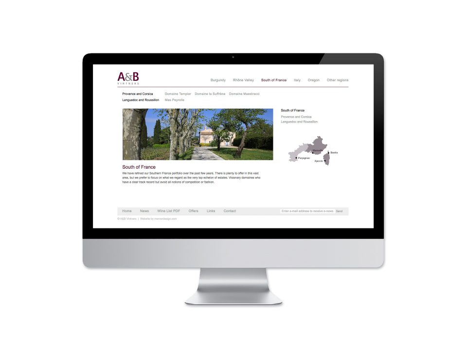 AB Vintners Website<br>Design and Development