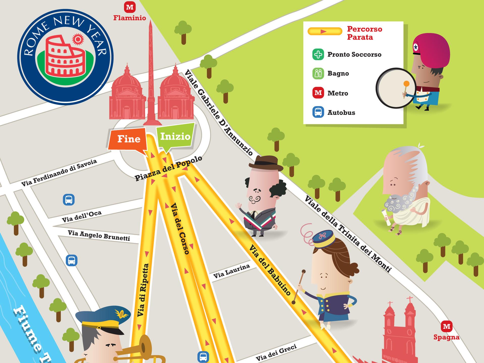 Destination Events Pocket Map Design