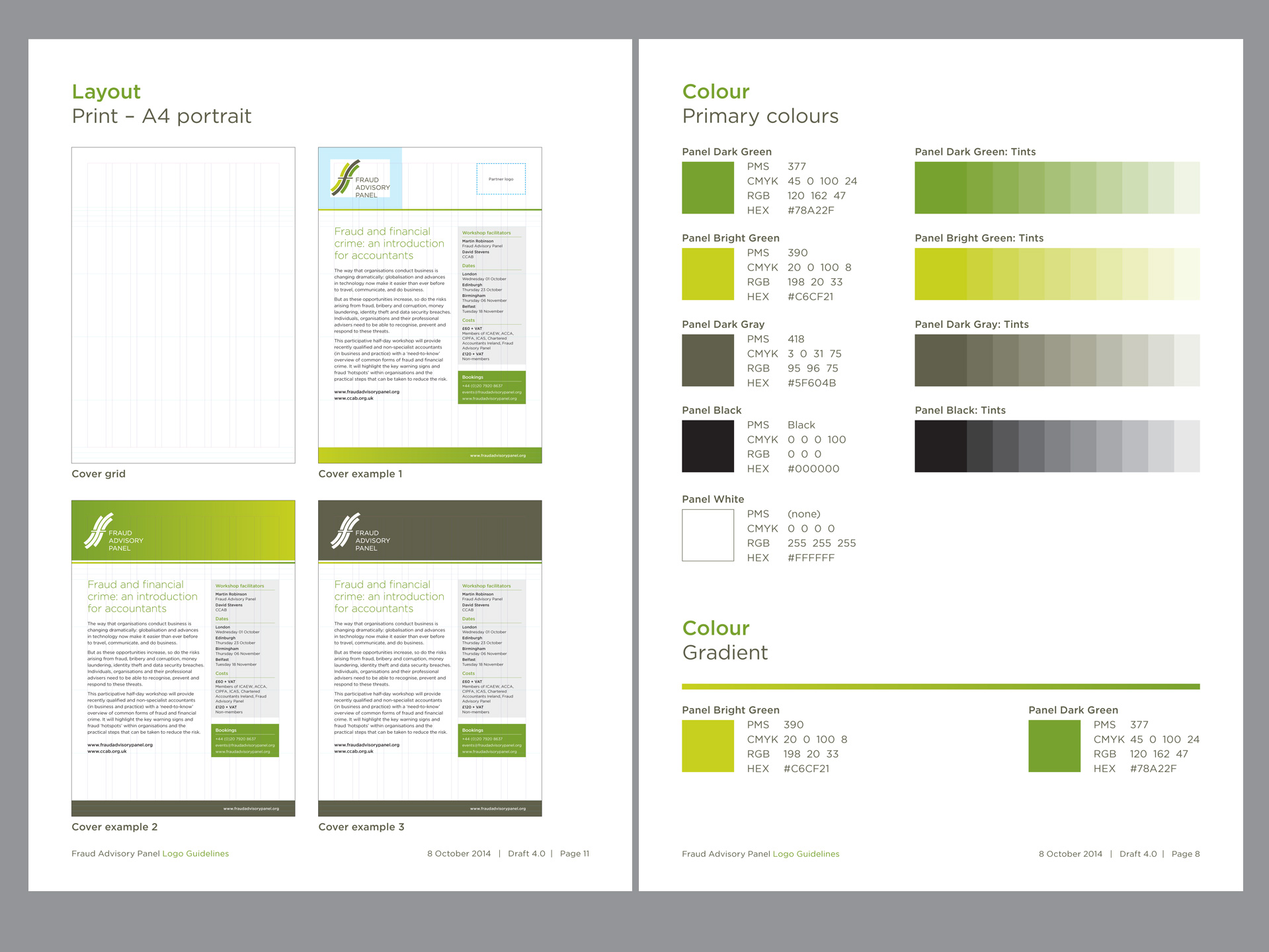 Fraud Advisory identity brand guidelines