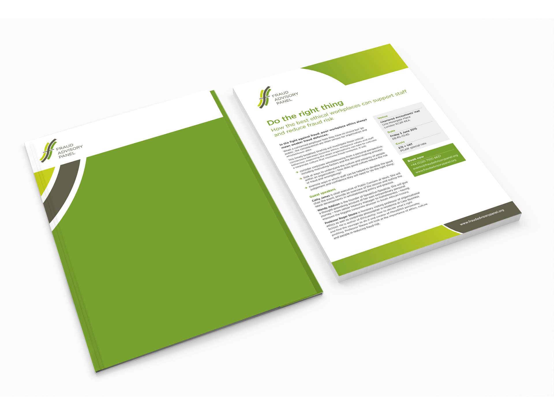 Fraud ADvisory Panel folder and flyer design
