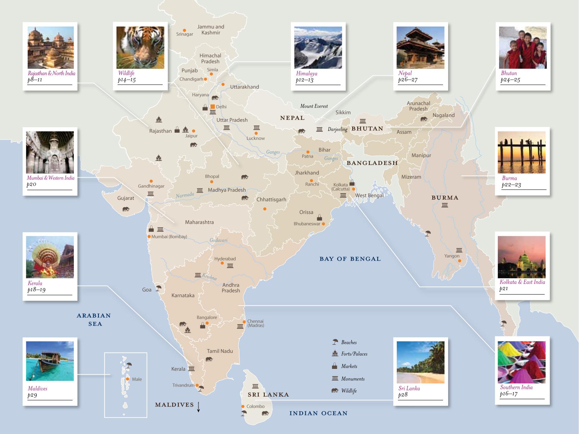 India travel map design