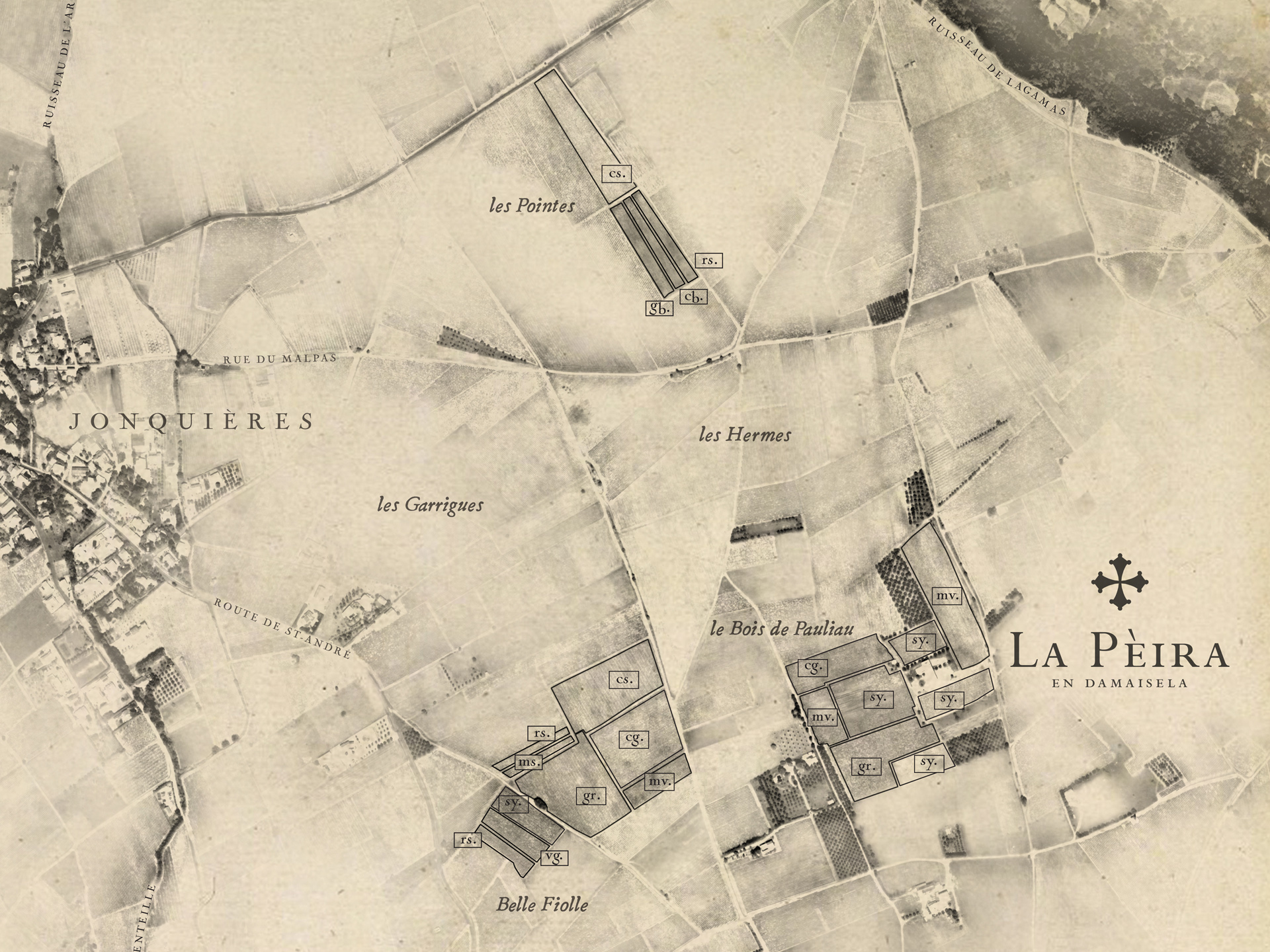 La Peira map detail