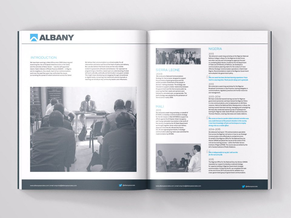 Albany Associates Graphic Design