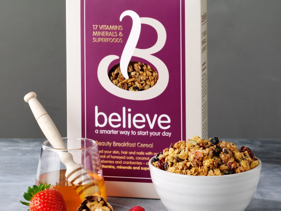 Packaging design for Believe Cereals