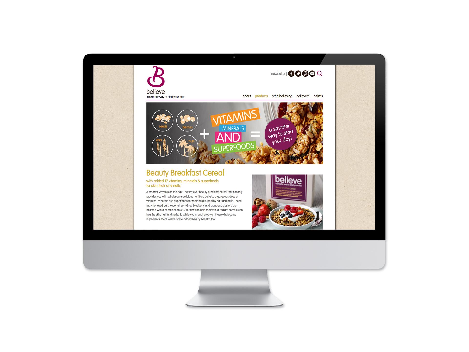 Believe Cereals Packaging Design