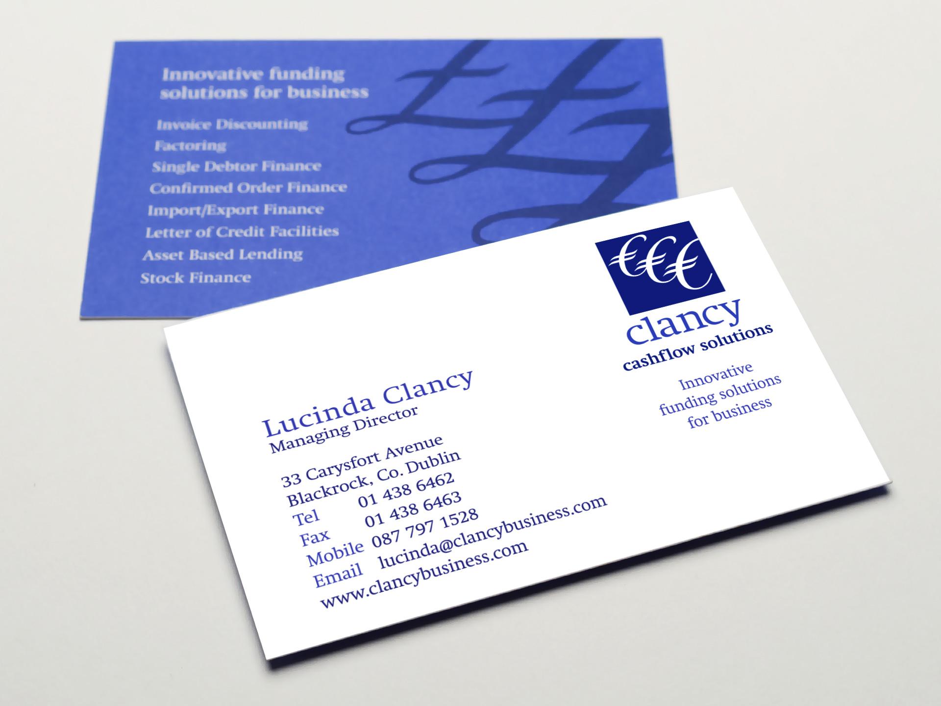 Clancy Cashflow Solutions Brand Identity - Mercer Design