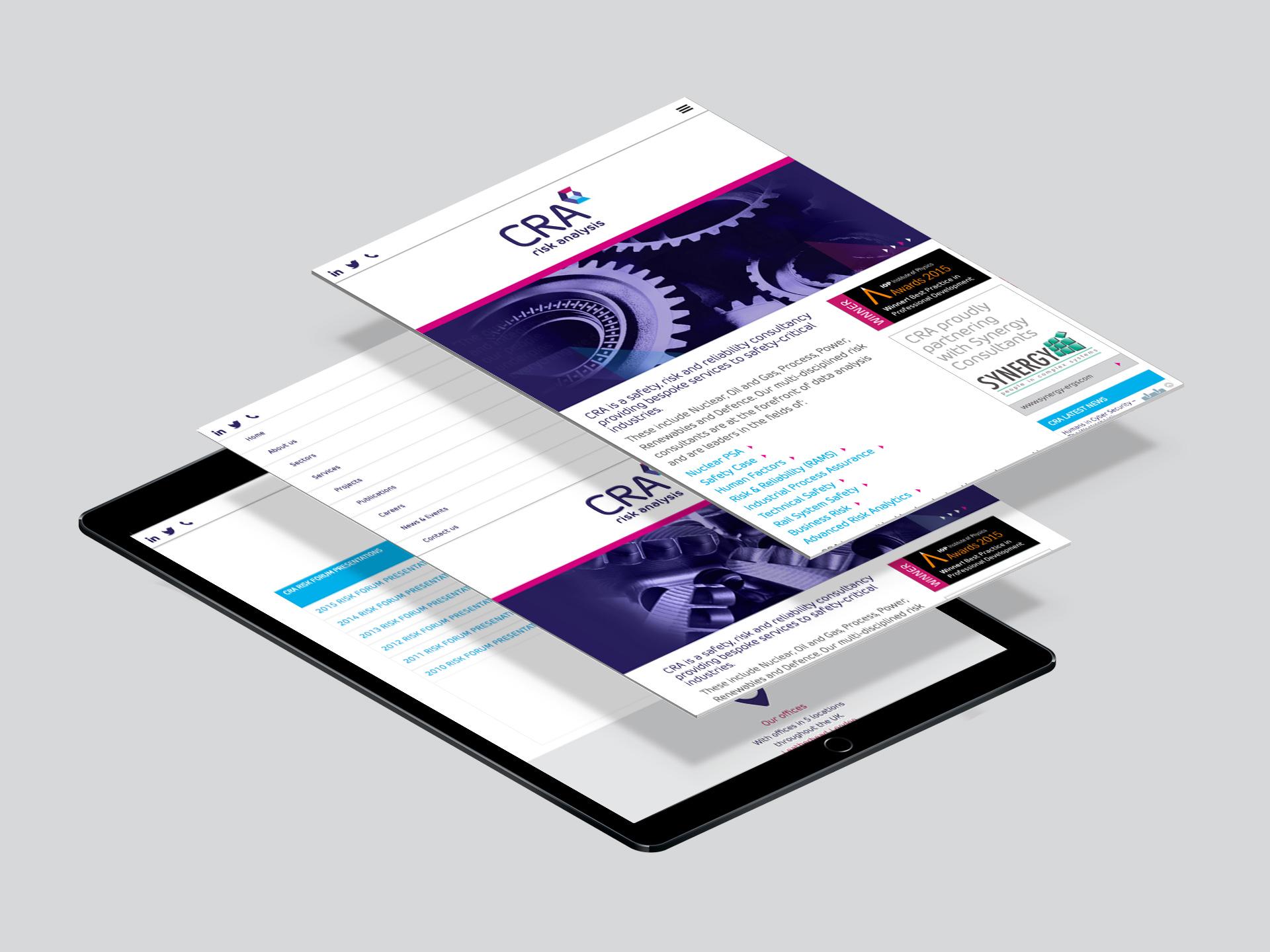 Responsive Website Design CRA tablet
