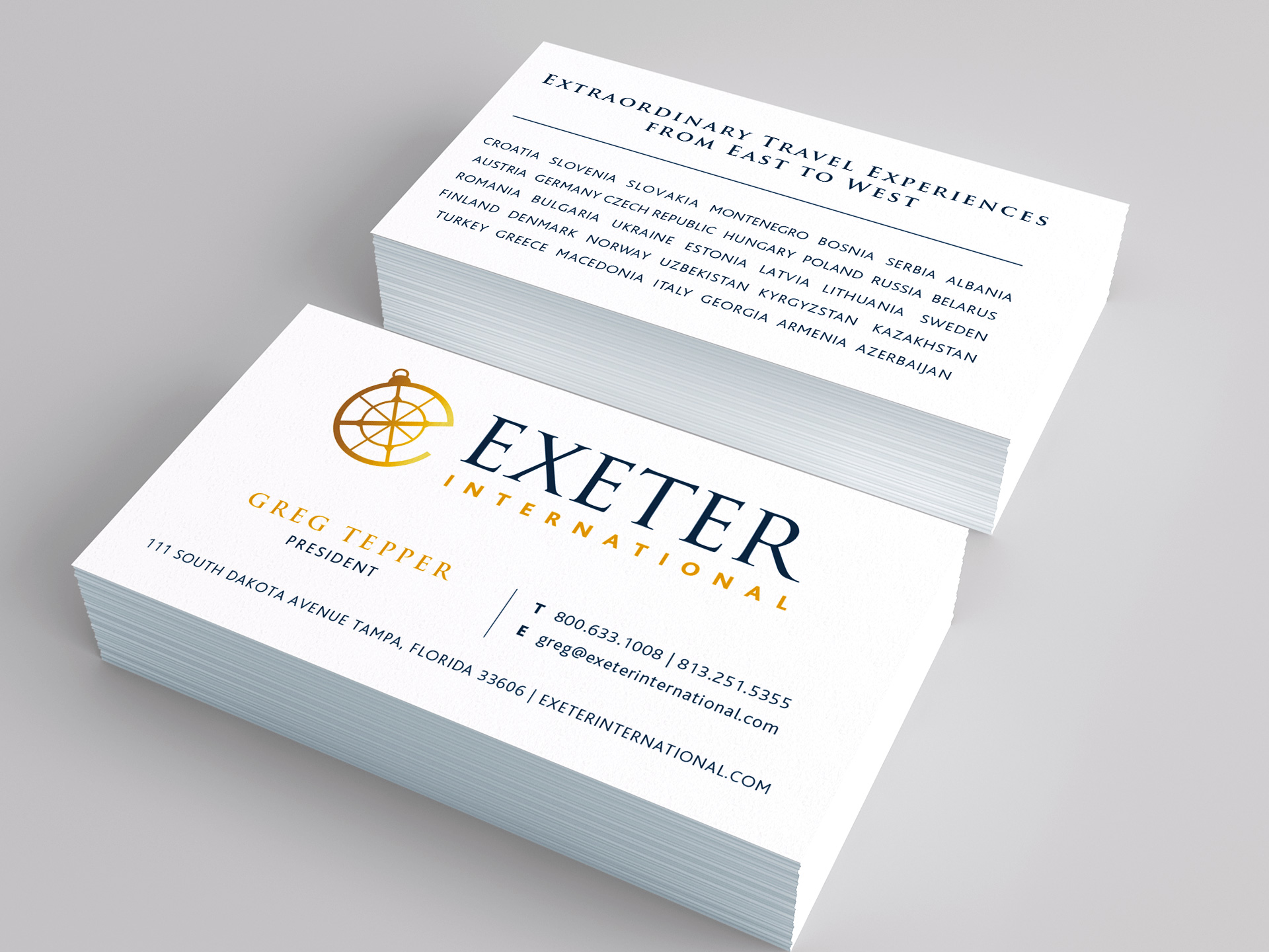 Exeter International Brand Identity