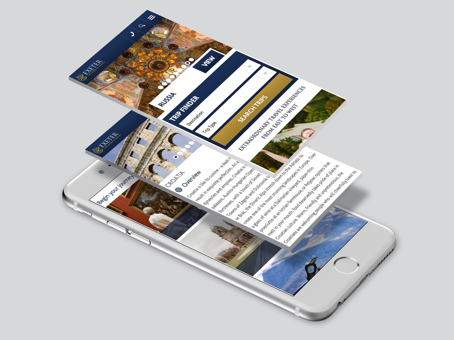 Exeter International Website <br>Design and Development