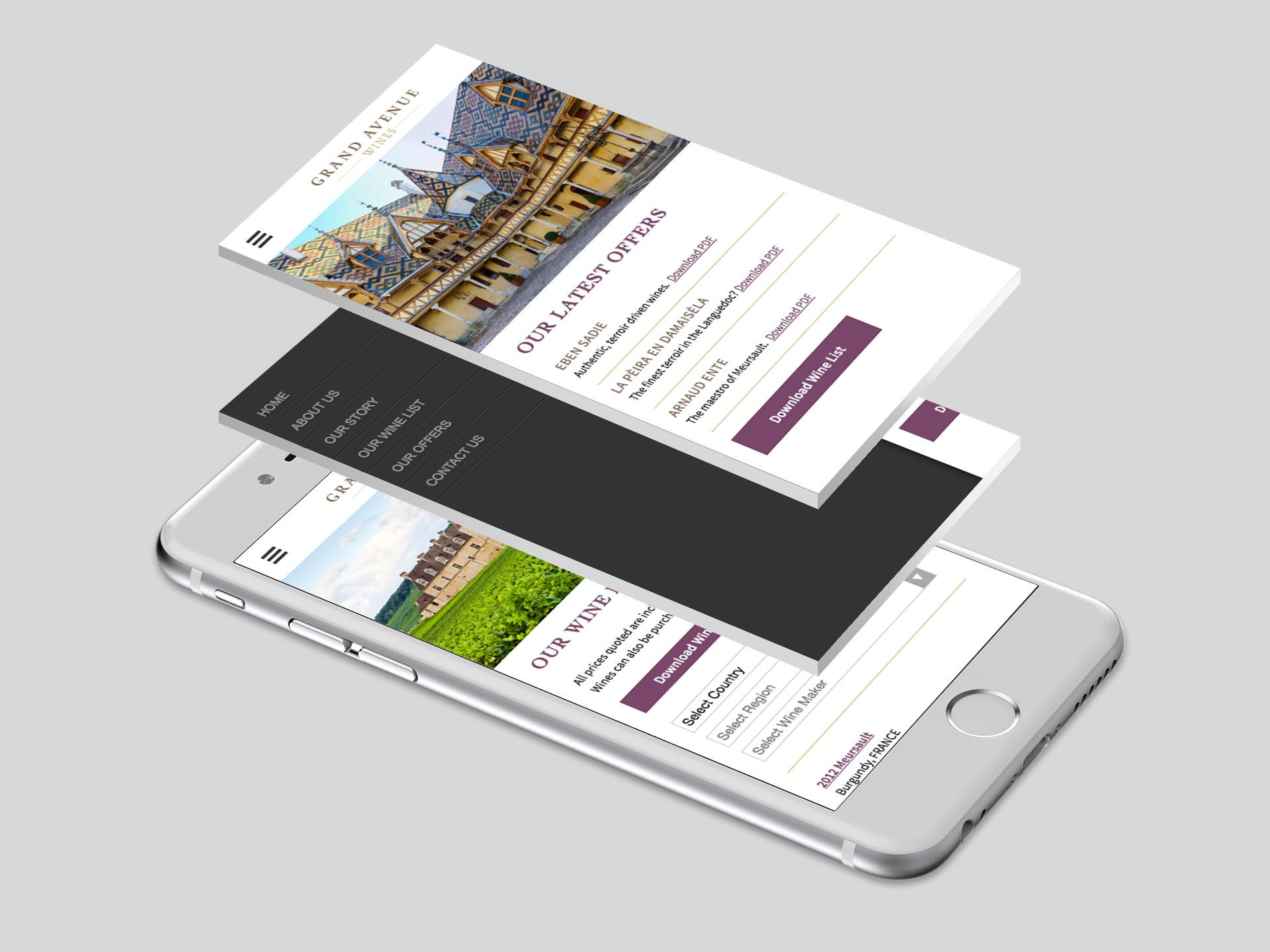 Grand Avenue Wines Website <br>Design and Development