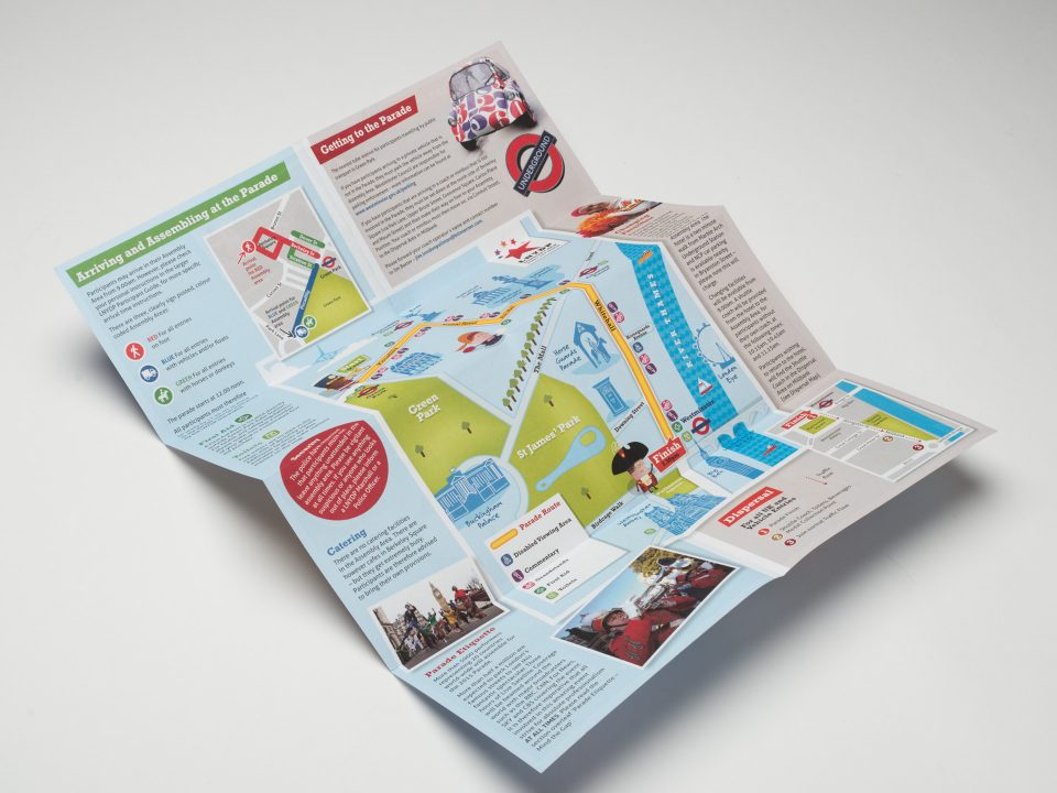 Destination Events Pocket Map Design