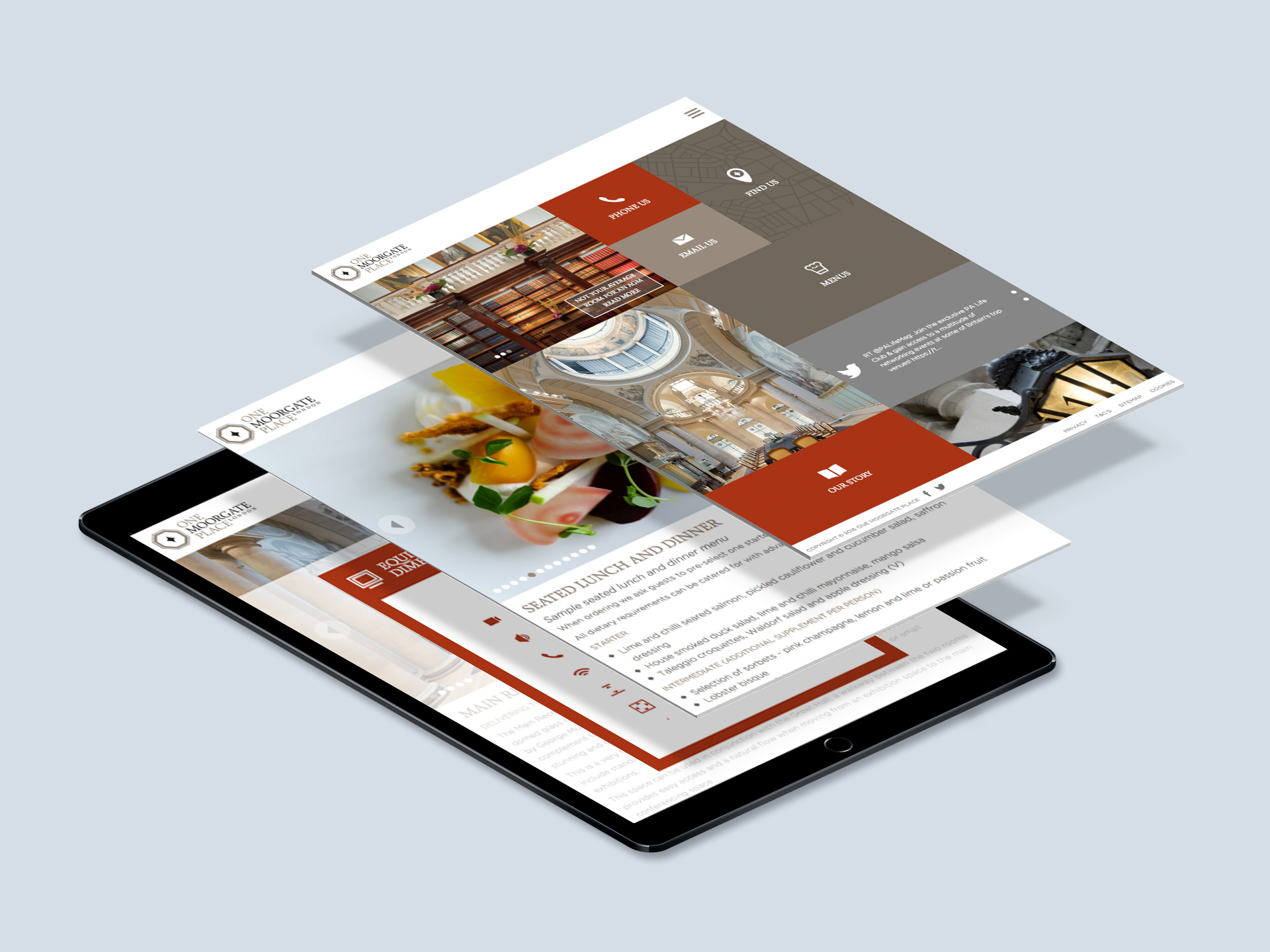Responsive website for One Moorgate Place