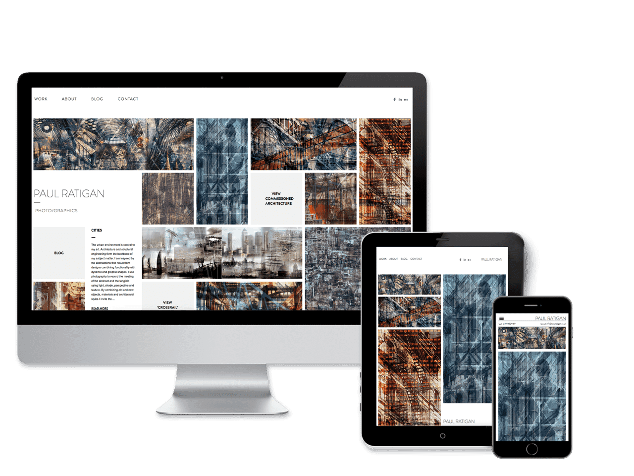 Paul Ratigan Website <br>Design and Development
