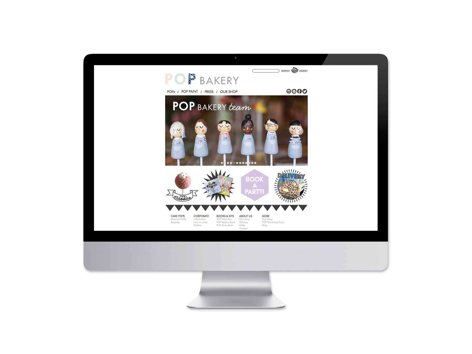 Pop Bakery E-commerce Website Development