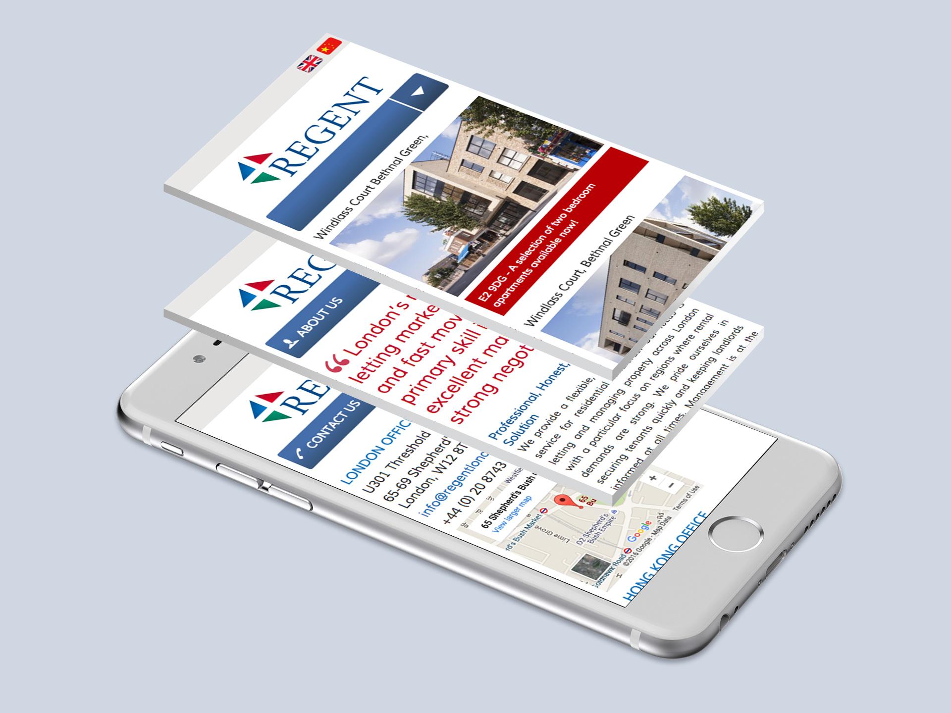 Regent Lettings Website <br>Design and Development