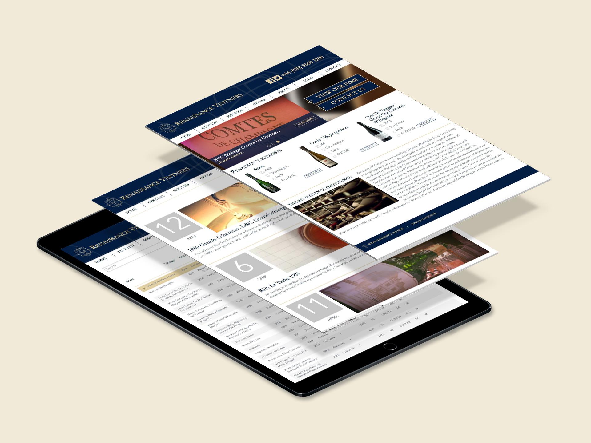 Renaissance Vintners <br>Brand Identity and Website