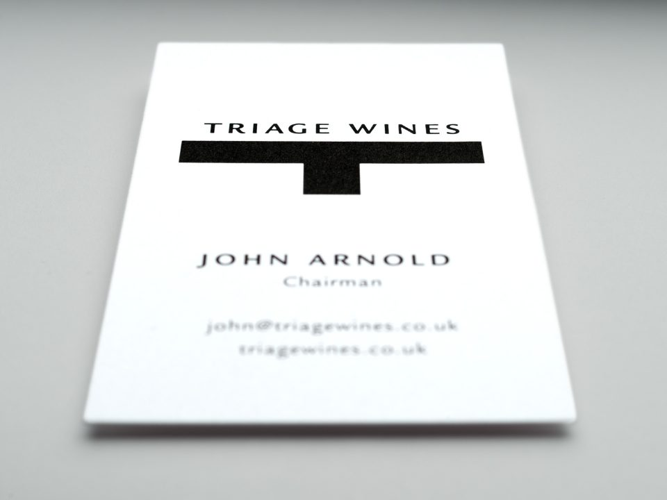 Triage Wines Brand Identity and Website