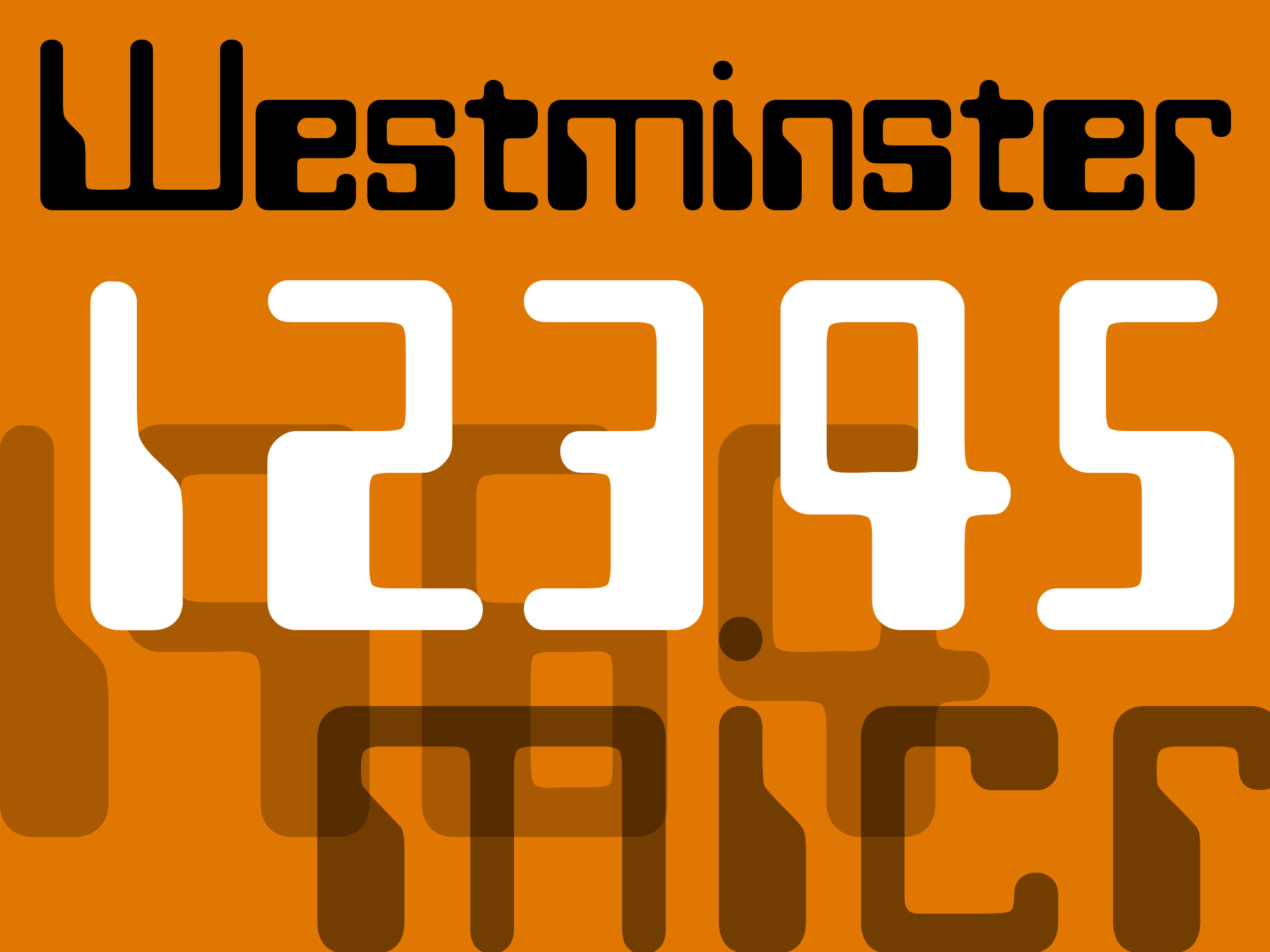 Westminster font design